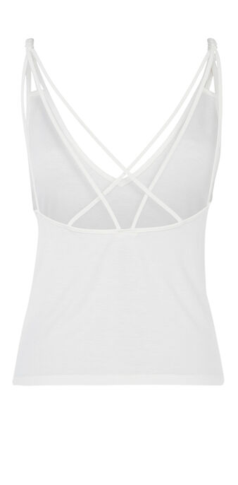 Top blanc cassé shotressiz white.
