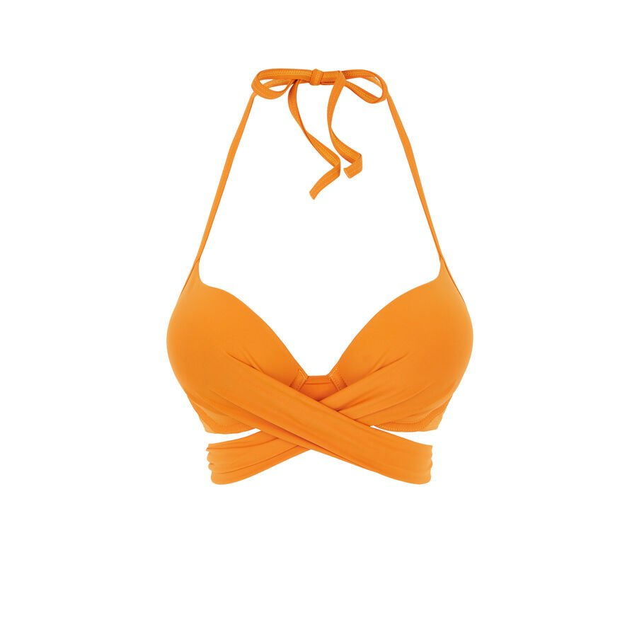 Haut de maillot de bain super push orange fusioniz;