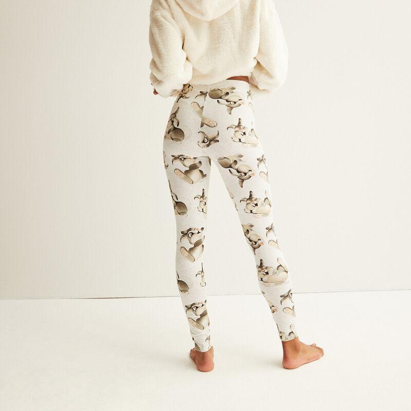 legging met Stampertje patroon - crème;