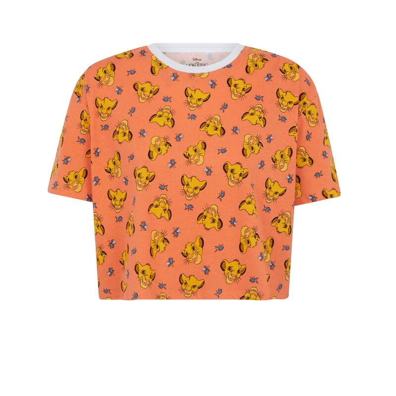 Top à manches courtes Le Roi Lion - orange;