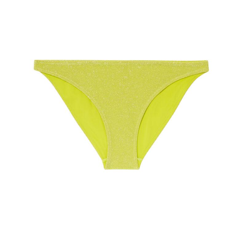bikinibroekje in slipvorm met pailletten - geel;