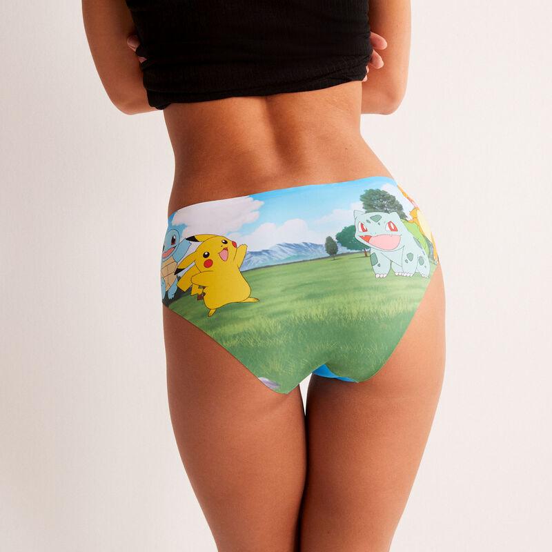 shorty en micro à imprimé Pokémon - jaune ;