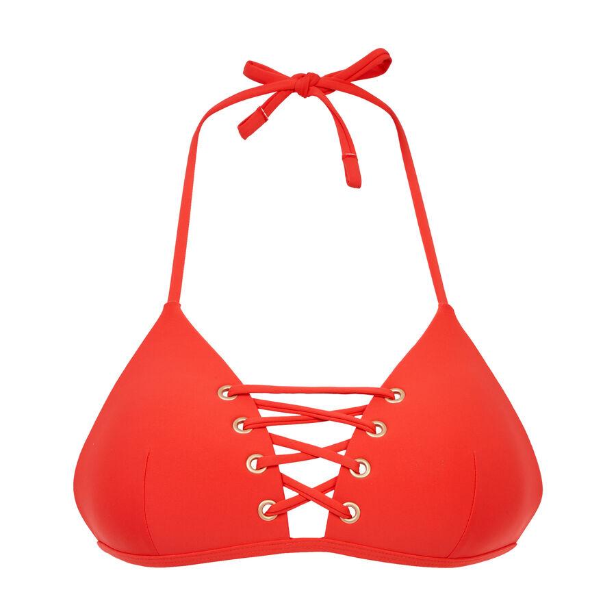 Haut de maillot de bain triangle rouge vahianiz;