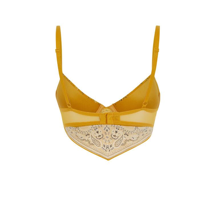 Soutien-gorge bustier ampli jaune moutarde bandaniz;