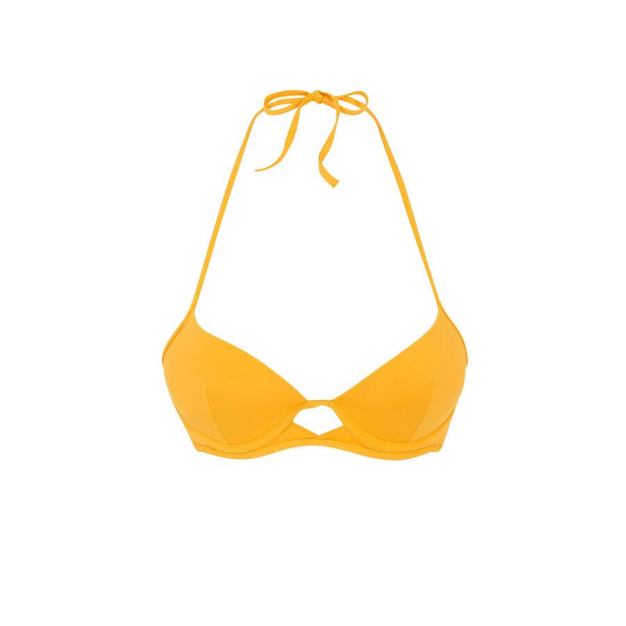 Haut de maillot de bain push-up jaune gabiz;