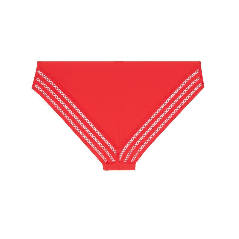 slip van microvezel en opengewerkt kant - rood;