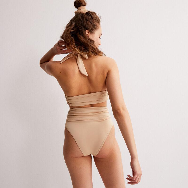 bikinibroekje met geknoopte zijkanten x Romy - beige;