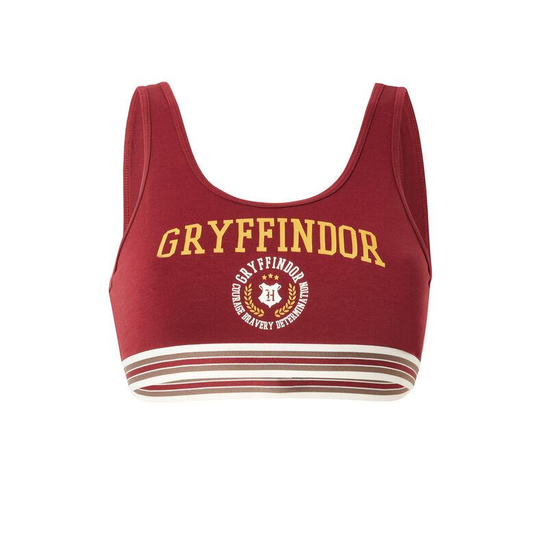 Sportbeha met Griffoendorprint - bordeauxrood;