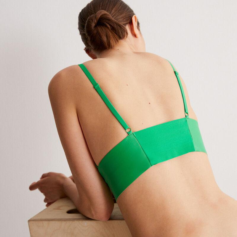 triangelbeha zonder beugel ledereffect - groen;