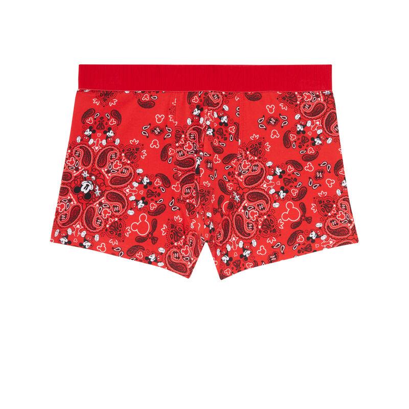 boxershort met Mickey-print - rood;