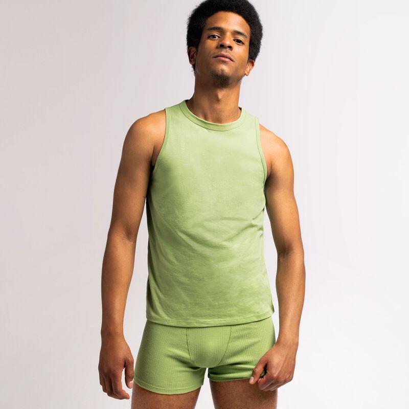 mouwloze unisex top van jersey - groen;