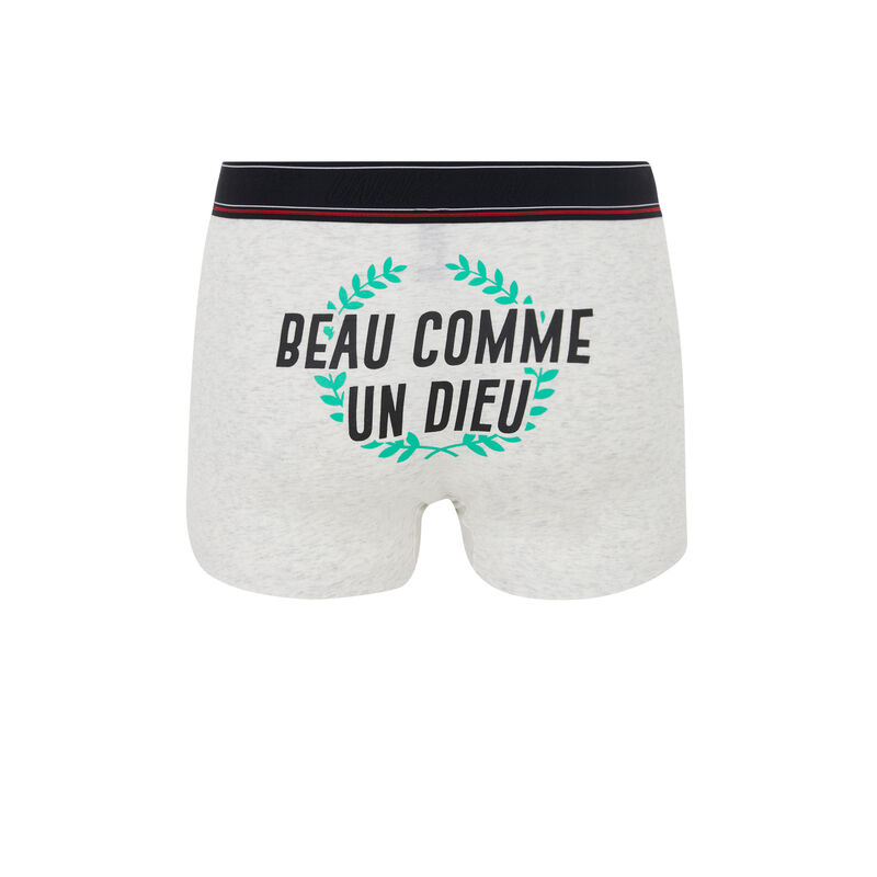 boxer en coton à message beauteiz;