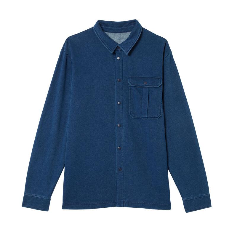 spijkerblouse met zakken - blauw;