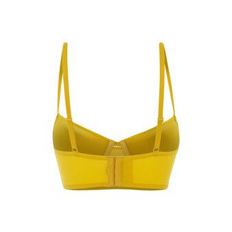 Soutien-gorge bustier push jaune moutarde guibeliz yellow.