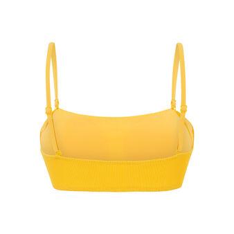 Haut de maillot de bain jaune bandeau gaufriz red.