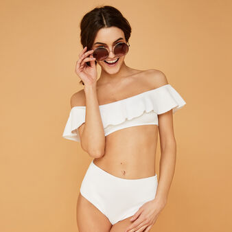 Haut de maillot de bain blanc sabliz weiß.