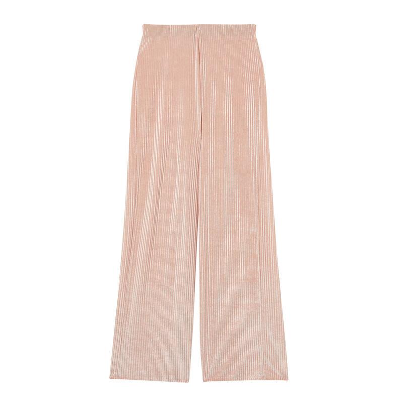 rechte broek met hoge taille - nude roze;