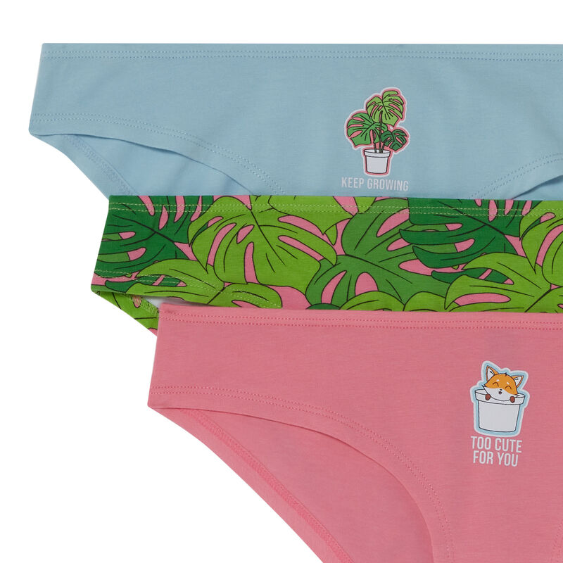 set van 3 slips too cute for you - roze;
