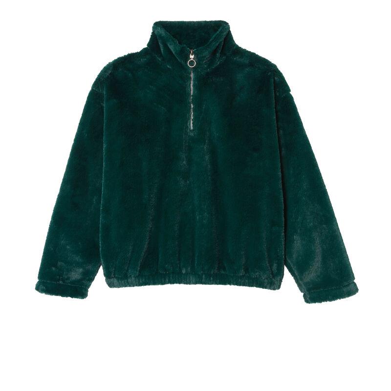 fleece sweatshirt - dennengroen;