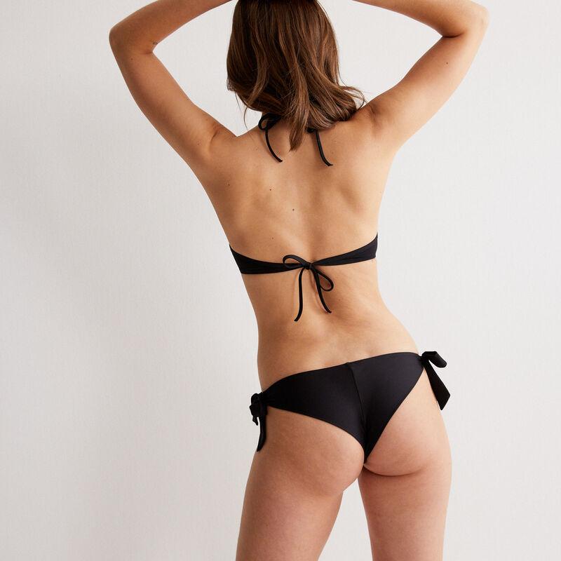 Bikinibroekje met strikdetails - zwart;