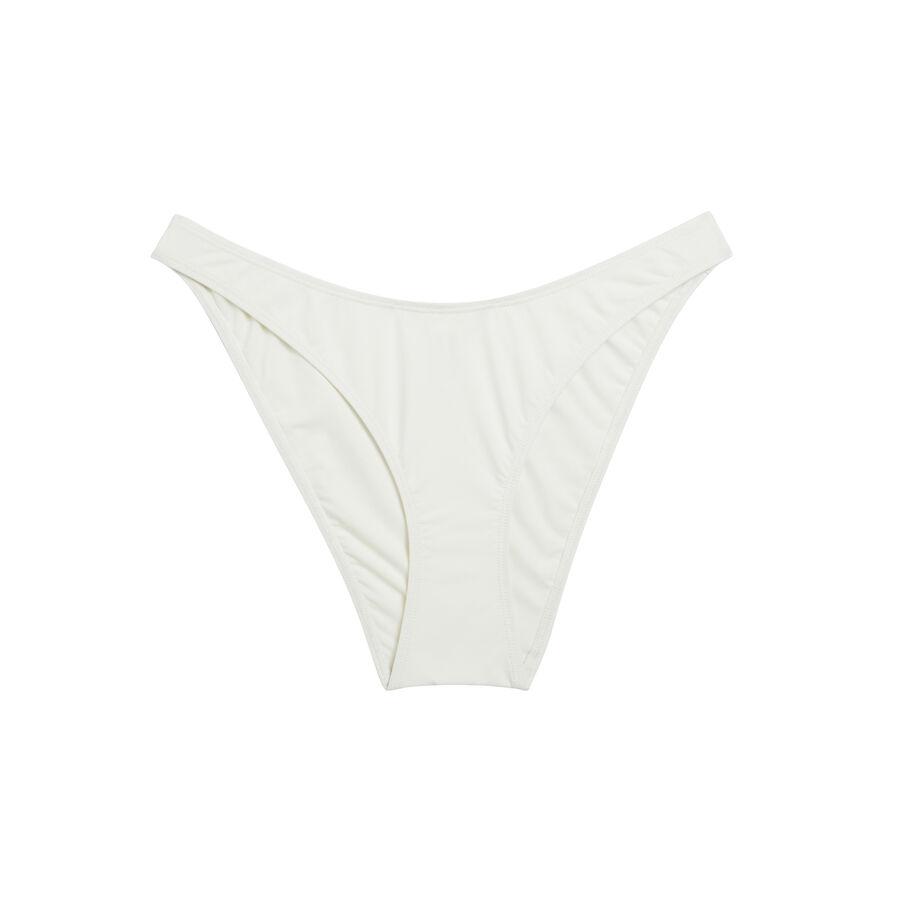 Bas de maillot de bain blanc cassé abricotiz;