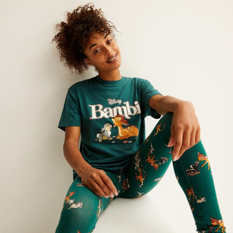t-shirt met bambi-print - dennengroen;