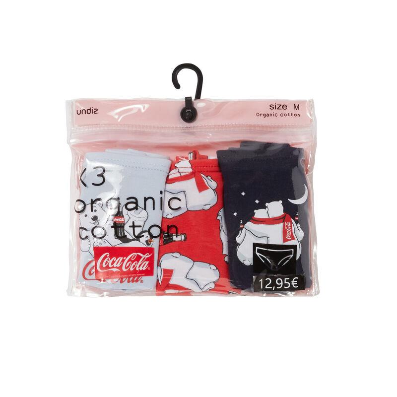 Set van 3 Coca-Cola broekjes - grijs;
