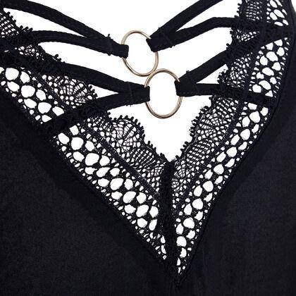 Top noir bijoutiz laciz black.