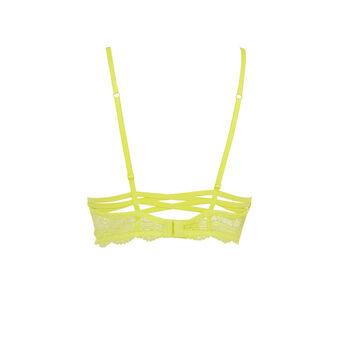 Soutien-gorge bustier jaune triangle everydayiz yellow.