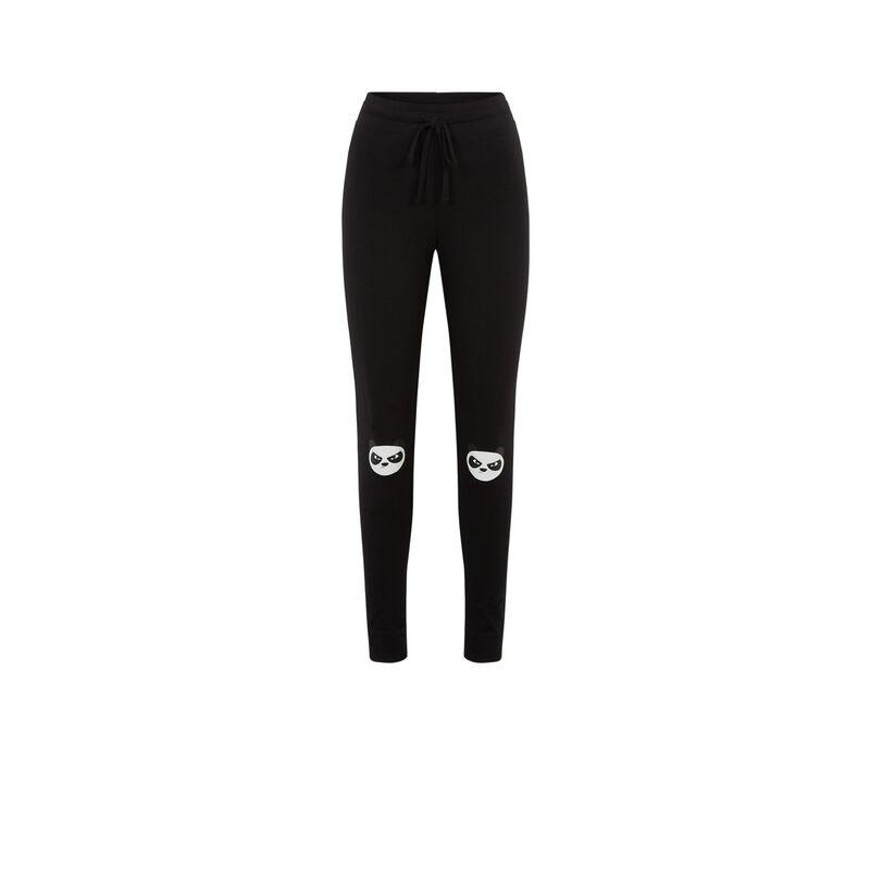legging à motifs panda - noir;