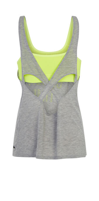 Top de sport gris crunchiz grey.