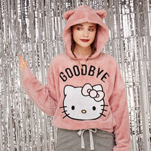 Sweat peluche rose hekiz pink.