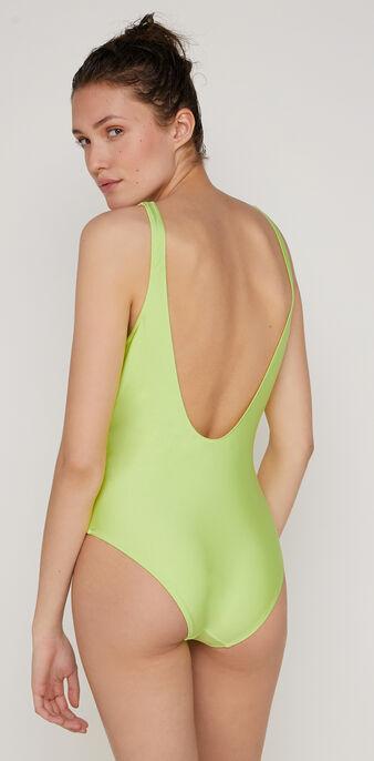 Maillot de bain une pièce vert fluo flamingiz green.