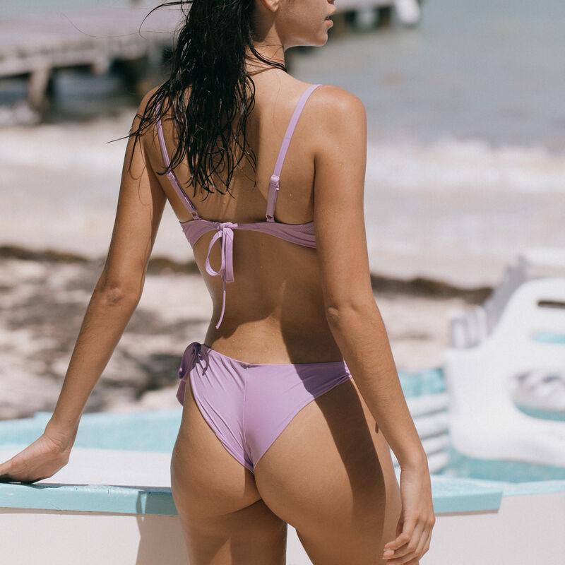 Push-up bikinitop met gedraaid decolleté - lila;