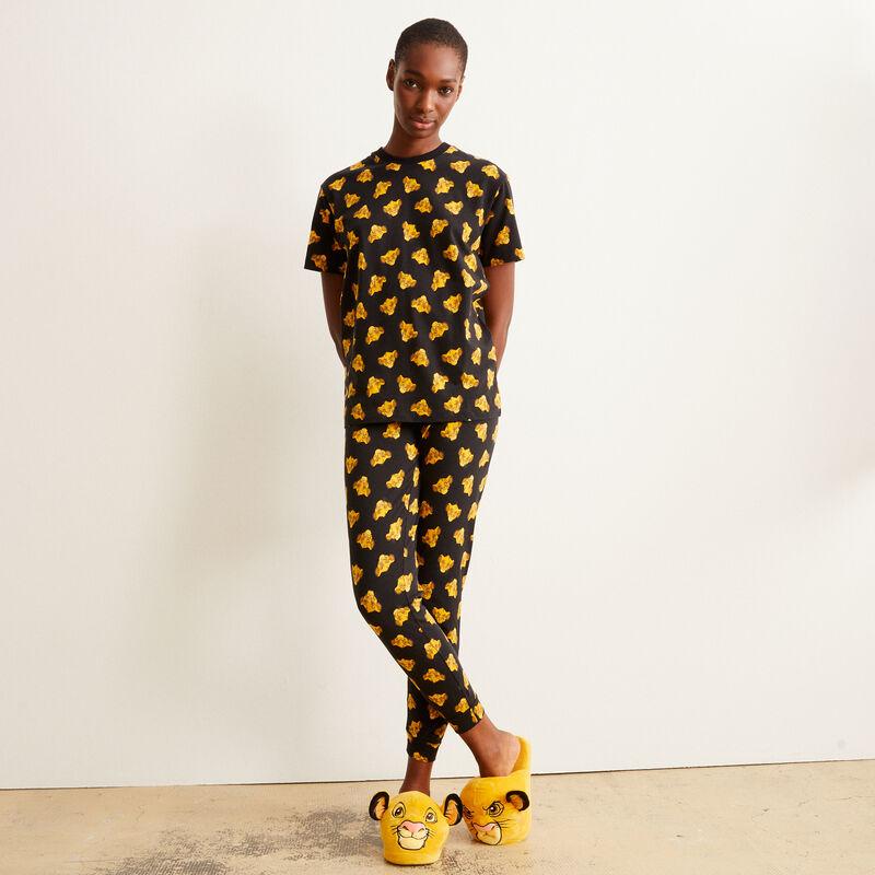 pantalon à motifs Simba - noir;