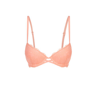 Soutien-gorge push rose saumon everydayiz pink.