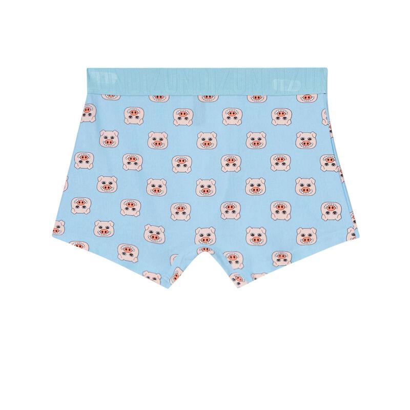 boxershort met varkensmotieven - hemelsblauw;