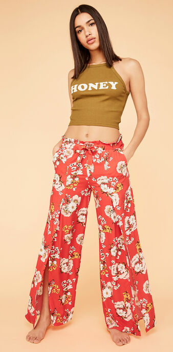 Pantalon rouge jardiniz red.