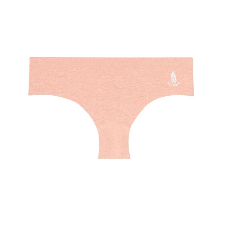 effen naadloze shorty met ananas-accent - roze;