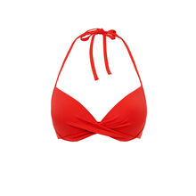Haut de maillot de bain push rouge twistiz red.
