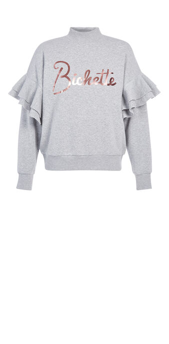 Sweat gris clair bichettiz grey.