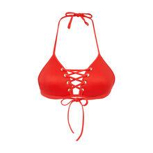 Haut de maillot de bain triangle rouge vahianiz red.