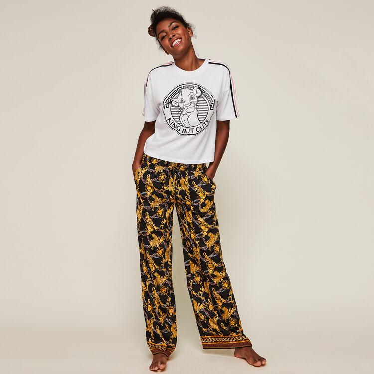 Pantalon en satin large print grequeeniz;