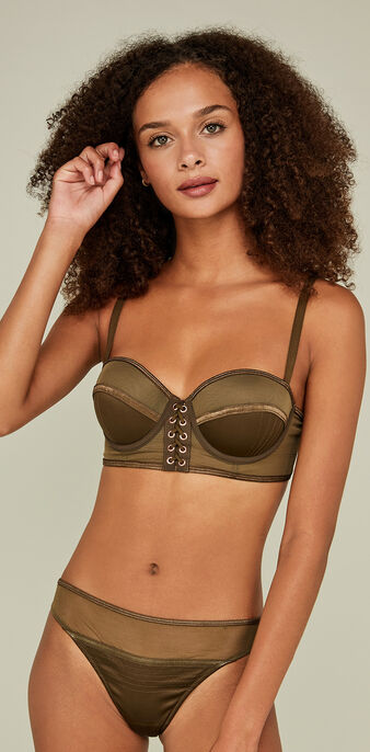 Soutien-gorge push up  kaki corseteriz green.