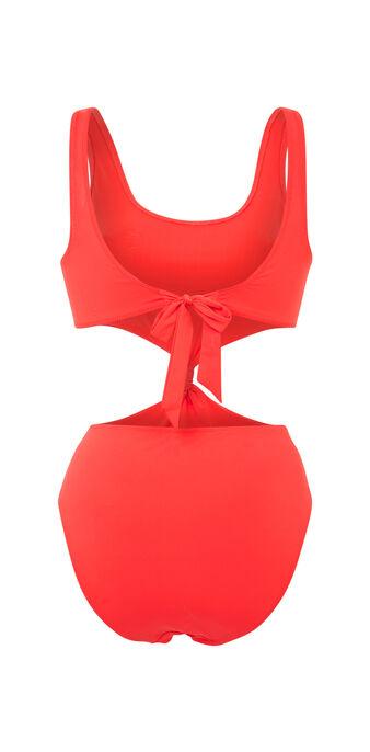Maillot de bain une pièce rouge saltiz red.