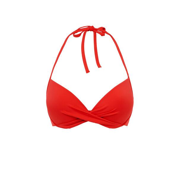 Haut de maillot de bain push rouge twistiz;