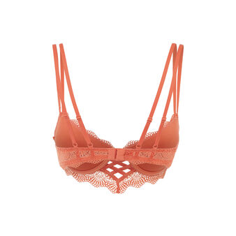 Soutien-gorge bustier push orange brique totoiz orange.