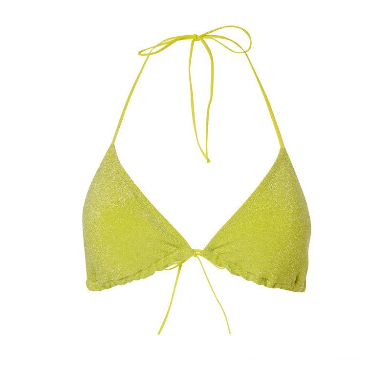 brassière bikinitop met pailletten - geel;