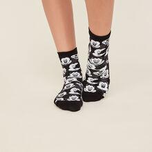 Chaussettes mickey noires snowiz black.
