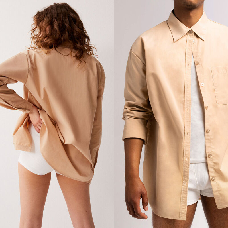 unisex hemd - beige;